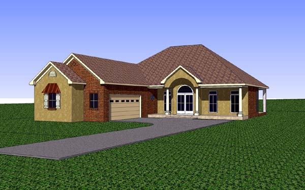 Contemporary Country Southern House Plan 57727 Elevation