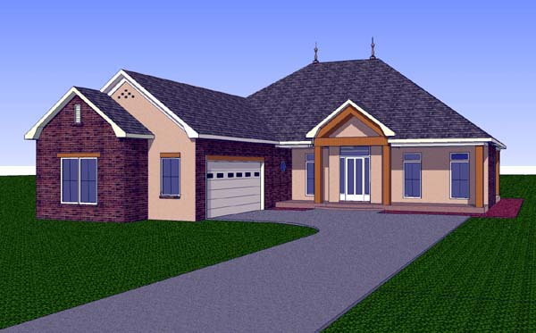 Contemporary Country Southern House Plan 57728 Elevation