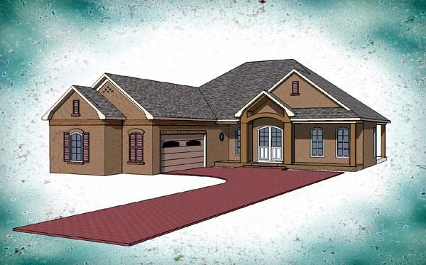 Contemporary Country Southern House Plan 57729 Elevation