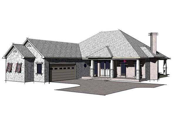 Florida Southern House Plan 57730 Elevation