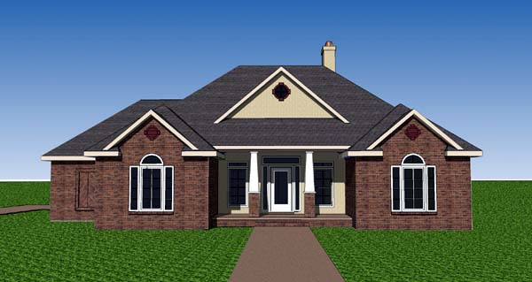 Contemporary Southern House Plan 57734 Elevation