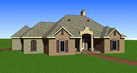 Contemporary Southern House Plan 57739 Elevation