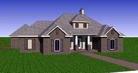 Contemporary Southern House Plan 57740 Elevation
