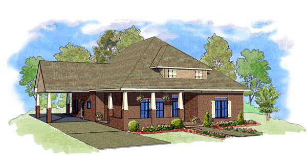 Cottage Southern House Plan 57747 Elevation