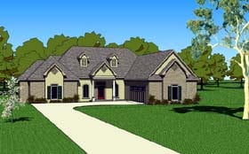 House Plan 57751 | Country Southern Style Plan with 1830 Sq Ft, 3 Bedrooms, 3 Bathrooms, 2 Car Garage Elevation