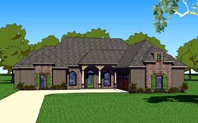 House Plan 57752 | Country Southern Style Plan with 1830 Sq Ft, 3 Bedrooms, 3 Bathrooms, 2 Car Garage Elevation