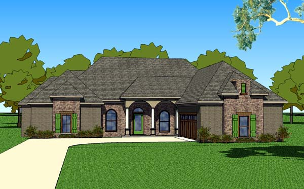 Country Southern House Plan 57758 Elevation