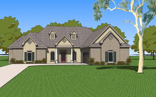 Country Southern House Plan 57760 Elevation