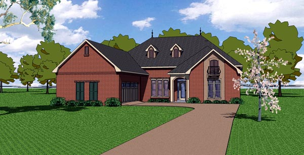Country European Southern House Plan 57766 Elevation