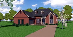 House Plan 57771   Country European Southern Style Plan with 2366 Sq Ft, 3 Bedrooms, 3 Bathrooms, 2 Car Garage Elevation