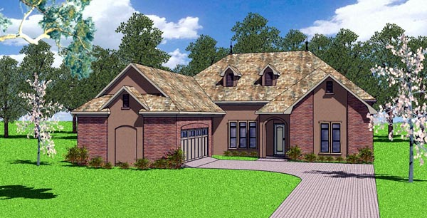 Country European Southern House Plan 57773 Elevation