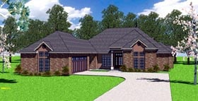 Country European Southern House Plan 57777 Elevation