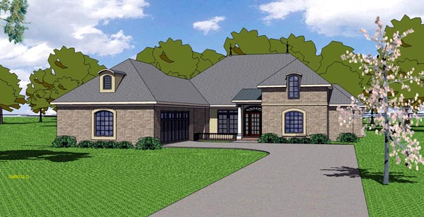 Country European Southern House Plan 57780 Elevation