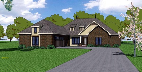 House Plan 57786 | Country European Southern Style Plan with 2105 Sq Ft, 3 Bedrooms, 3 Bathrooms, 2 Car Garage Elevation