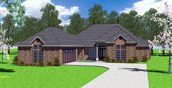 Country European Southern House Plan 57787 Elevation