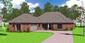 House Plan 57788 | Country European Southern Style Plan with 2105 Sq Ft, 3 Bed, 3 Bath, 2 Car Garage Elevation