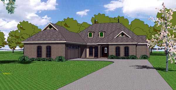 Country European Southern House Plan 57789 Elevation