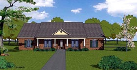 House Plan 57796 | Country, Craftsman, Ranch, Southern Style House Plan with 2408 Sq Ft, 3 Bed, 3 Bath, 2 Car Garage Elevation