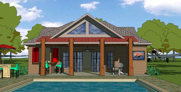 Cottage Craftsman House Plan 57800 Elevation