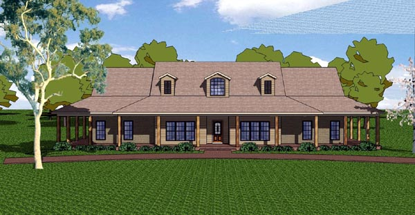 Country Craftsman Florida Southern House Plan 57821 Elevation