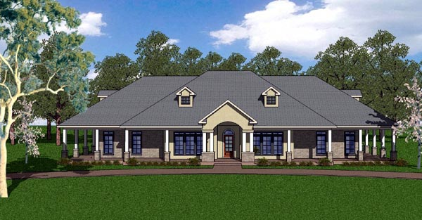 Country Craftsman Florida Southern House Plan 57824 Elevation