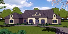 Colonial Contemporary Country Southern House Plan 57843 Elevation