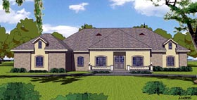 Colonial , Contemporary , Country , Southern House Plan 57844 with 3 Beds, 3 Baths, 2 Car Garage Elevation