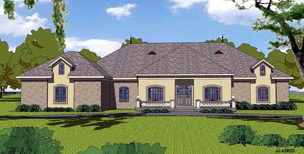 Colonial Contemporary Country Southern House Plan 57844 Elevation