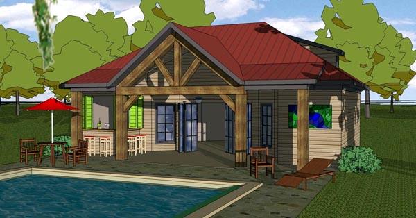 Coastal Cottage Southern House Plan 57845 Elevation