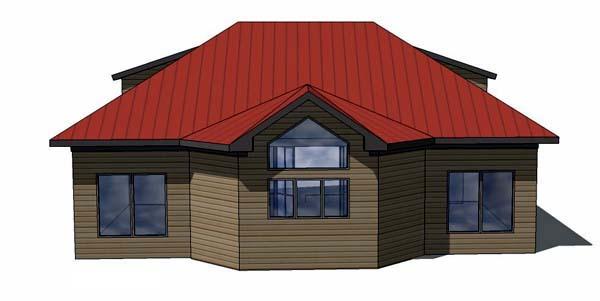 Coastal Cottage Southern House Plan 57845 Rear Elevation
