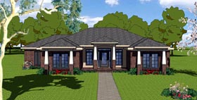 Contemporary , Country , Florida , Southern House Plan 57847 with 3 Beds, 2 Baths, 2 Car Garage Elevation
