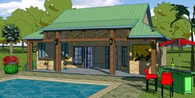 Coastal Cottage Craftsman House Plan 57856 Elevation