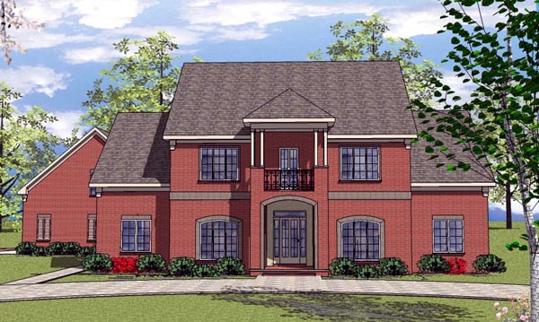 Colonial Country Southern House Plan 57859 Elevation