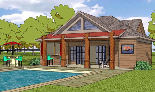 Coastal Cottage Craftsman House Plan 57862 Elevation