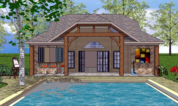 Coastal Cottage Craftsman House Plan 57864 Elevation