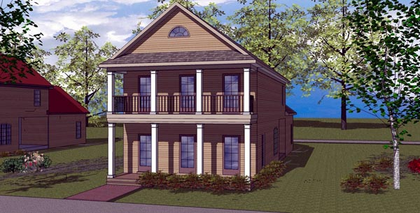 Colonial Southern House Plan 57865 Elevation