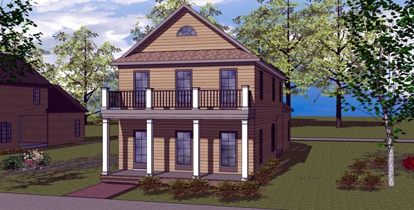 Colonial Southern House Plan 57866 Elevation