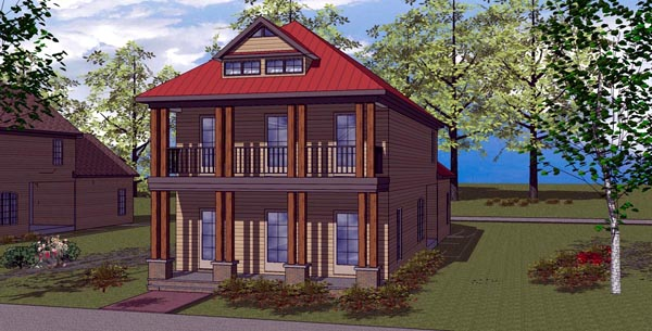 Colonial Southern House Plan 57867 Elevation
