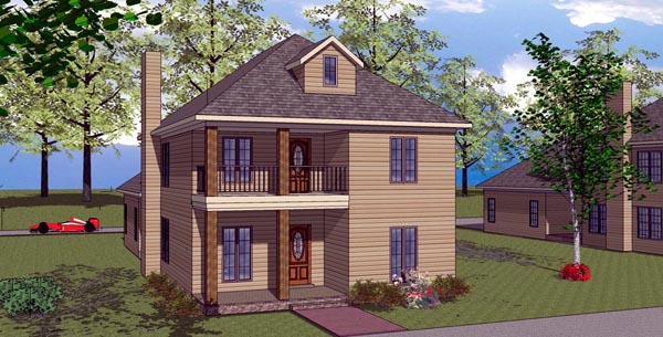 Colonial Southern House Plan 57869 Elevation