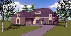 Contemporary Florida Southern House Plan 57871 Elevation