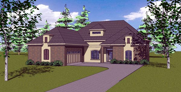 Contemporary Florida Southern House Plan 57873 Elevation