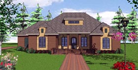 Contemporary Florida Southern House Plan 57874 Elevation