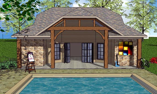 Cottage Craftsman House Plan 57881 Elevation