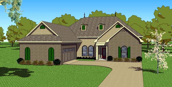 House Plan 57884 | Contemporary Florida Southern Style Plan with 2490 Sq Ft, 4 Bedrooms, 3 Bathrooms, 2 Car Garage Elevation
