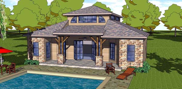 Cottage Florida Southern House Plan 57889 Elevation