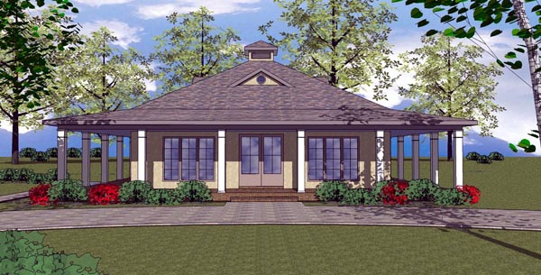 Cottage Florida Southern House Plan 57893 Elevation