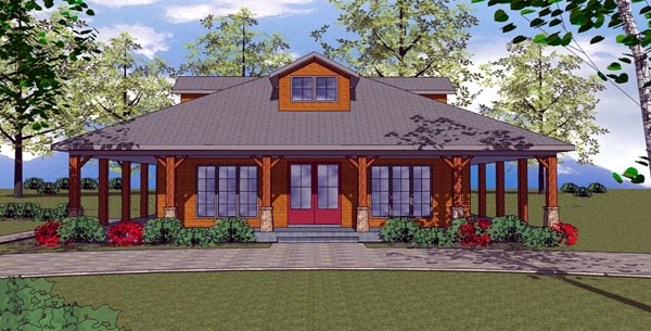 Cottage, Florida, Southern House Plan 57894 with 2 Beds , 2 Baths Elevation