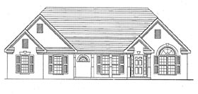 Traditional House Plan 58003 Elevation