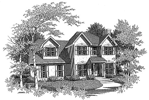 House Plan 58005 Elevation