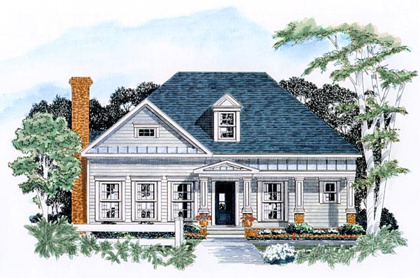 Traditional House Plan 58007 Elevation